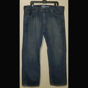 Levi's Signature Straight Leg Blue Jeans 40W×30L